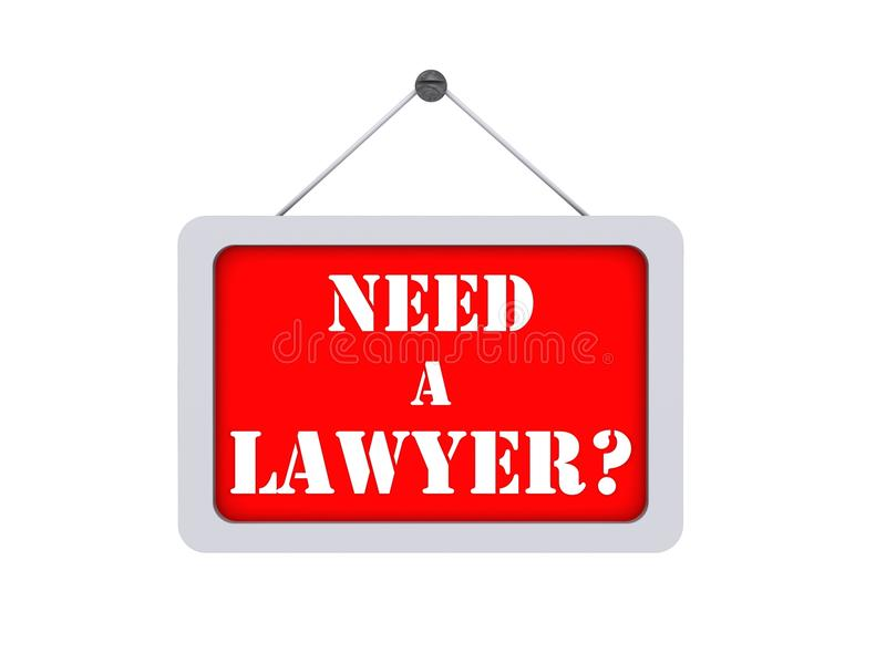 Need a lawyer ? stock illustration