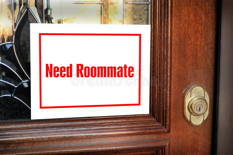 Need Roommate Sign. stock image
