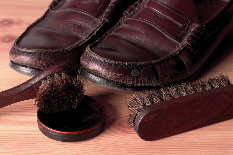 Download Need a Shine? stock photo. Image of scuff, leather, home - 67716