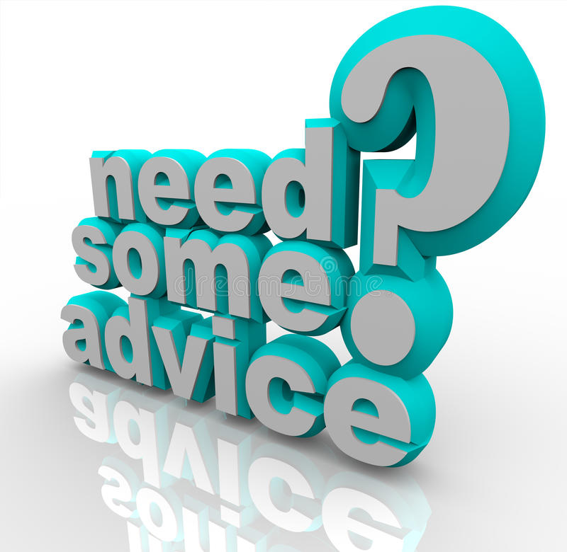 Download Need Some Advice Help Assistance 3D Words Stock Illustration - Image: 31863812