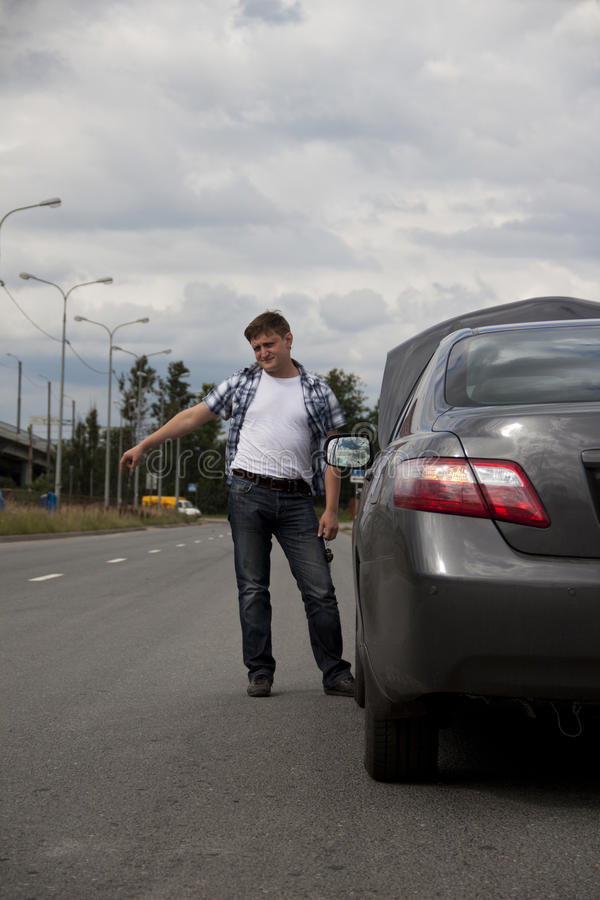 Download Need Technical Assistance With Broken-down Car Stock Image - Image: 20450893
