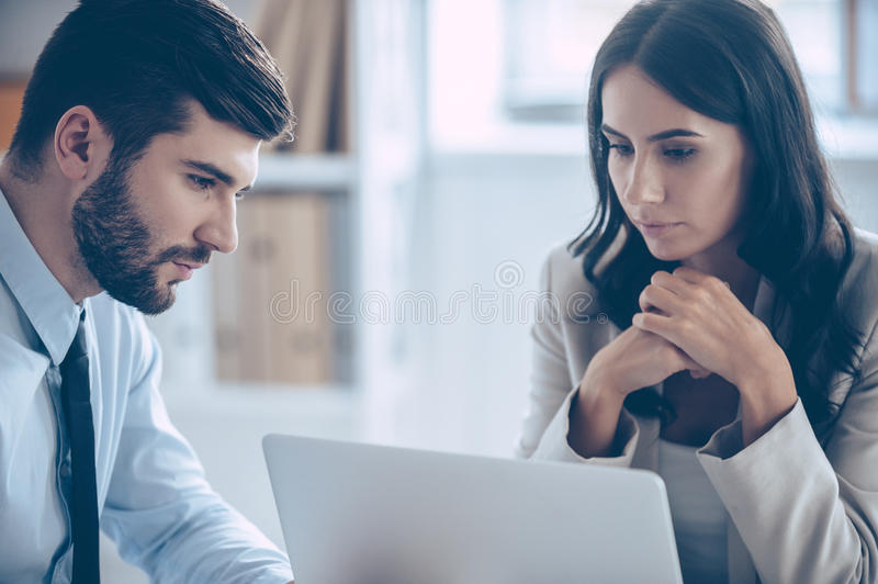 We need to read our contract once again. royalty free stock photography