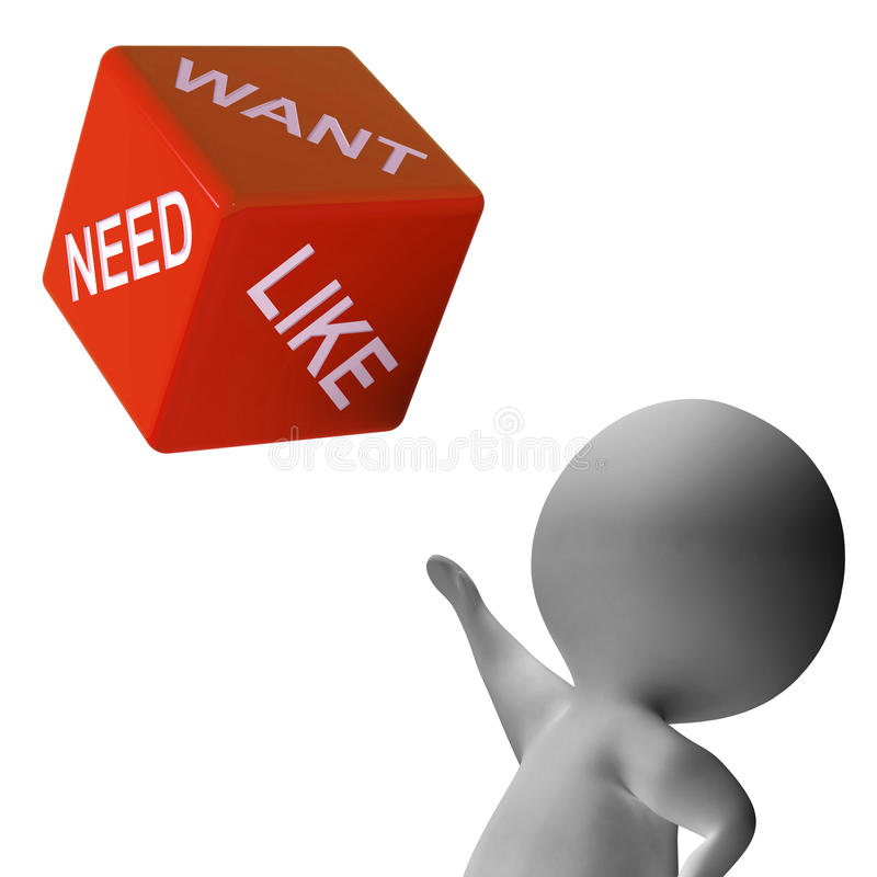 Free Need Want Like Dice Shows Desires Royalty Free Stock Photos - 32065568