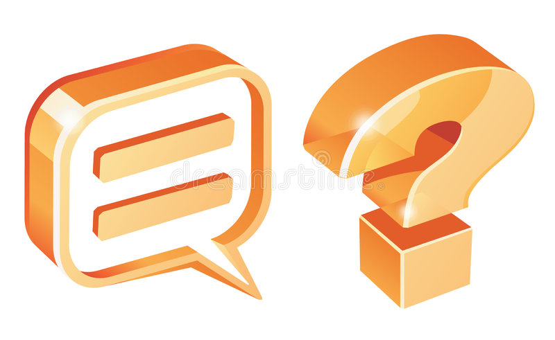 Download Needed Symbols For Communicate Stock Illustration - Image: 2764335