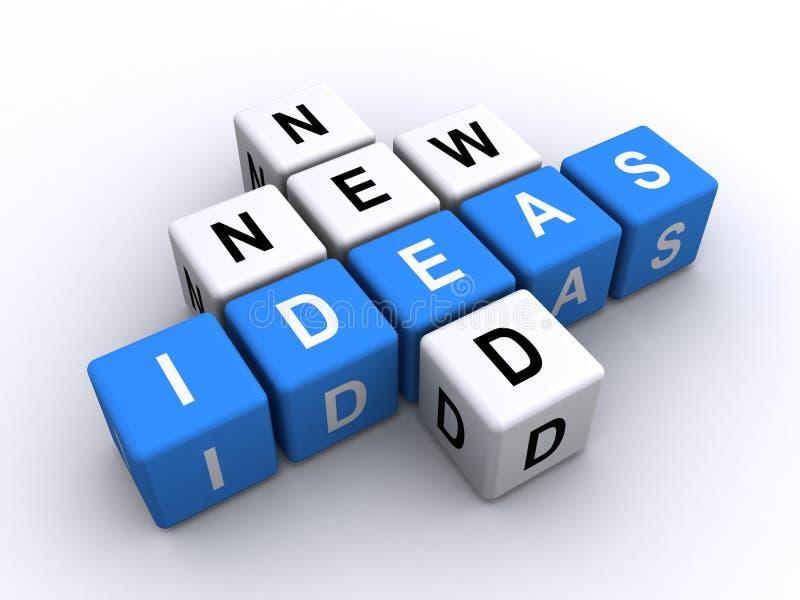 Needing new ideas. A background of letter tiles for needing new ideas vector illustration