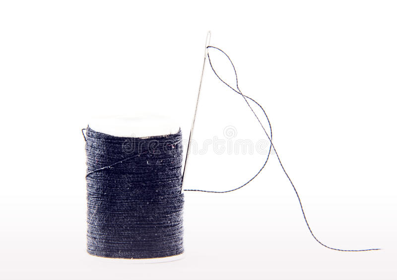 Needle and cotton stock images