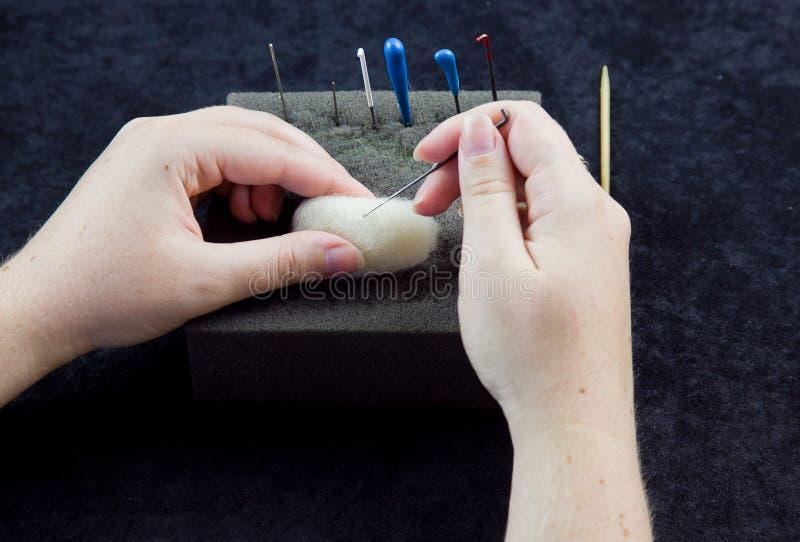 Needle Felting stock photos