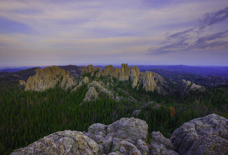 Needle hwy. Summer sunset in needle hwy black hills of south dakota, easy hike beautiful spot, really amazing place for camping and back packing royalty free stock photo