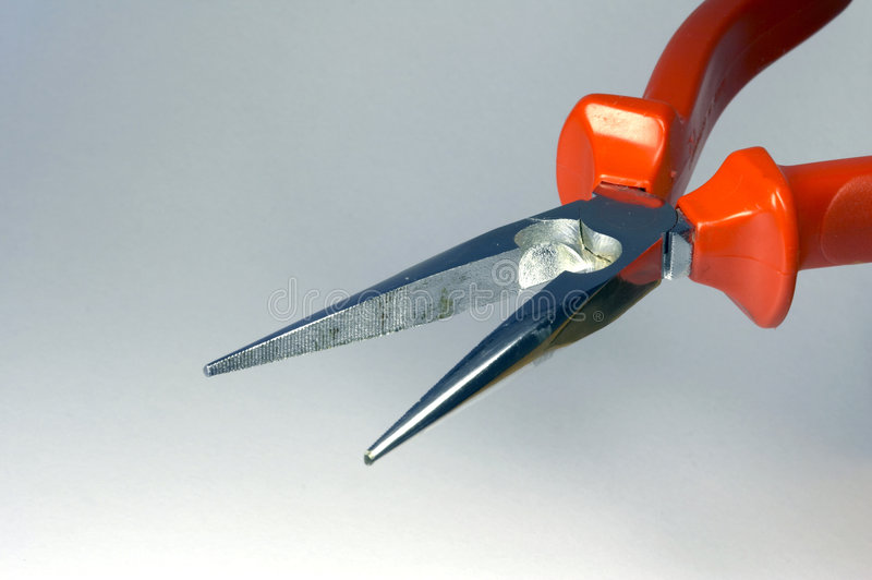 Needle-nosed pliers 02 royalty free stock image