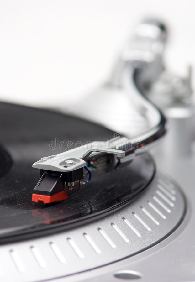 Needle On Records royalty free stock photography