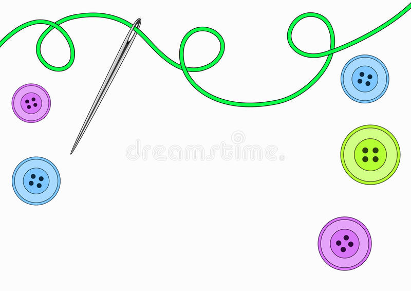 Download Needle, Thread And Buttons Royalty Free Stock Photo - Image: 14502165