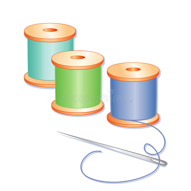 Download Needle and Threads stock vector. Image of needlework - 17617058