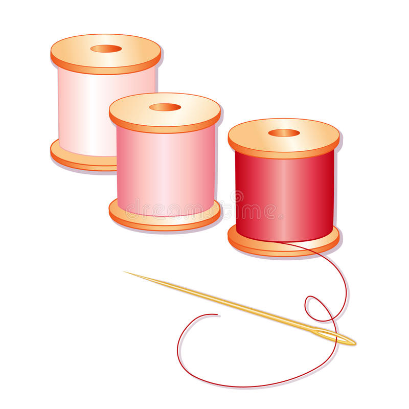 Needle And Threads Stock Images