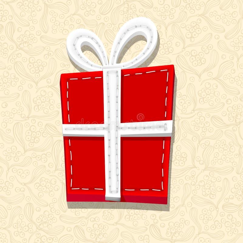 Needlecraft-Weihnachtsgeschenk stock abbildung