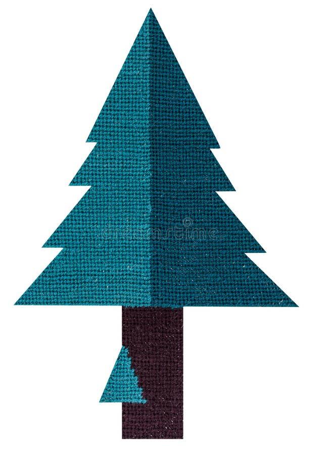 Needlepoint χριστουγεννιάτικο δέντρο στοκ φωτογραφίες με δικαίωμα ελεύθερης χρήσης