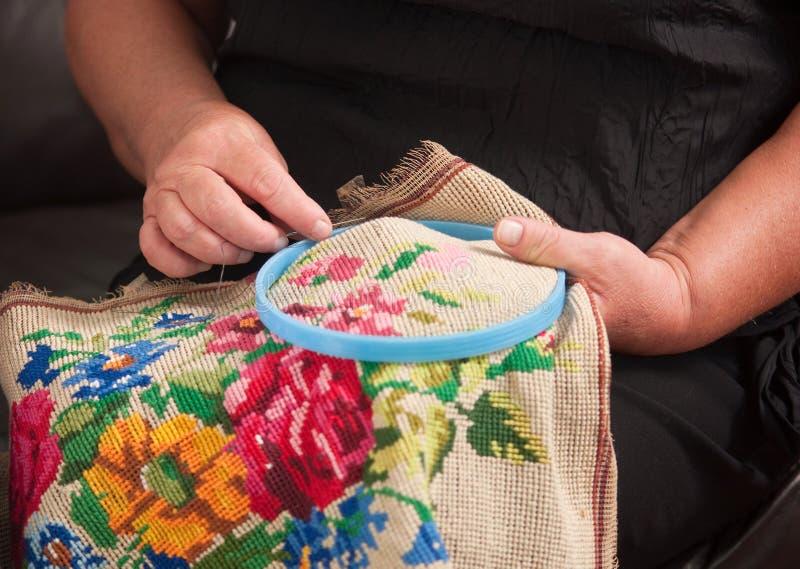 Needlework. imagens de stock royalty free