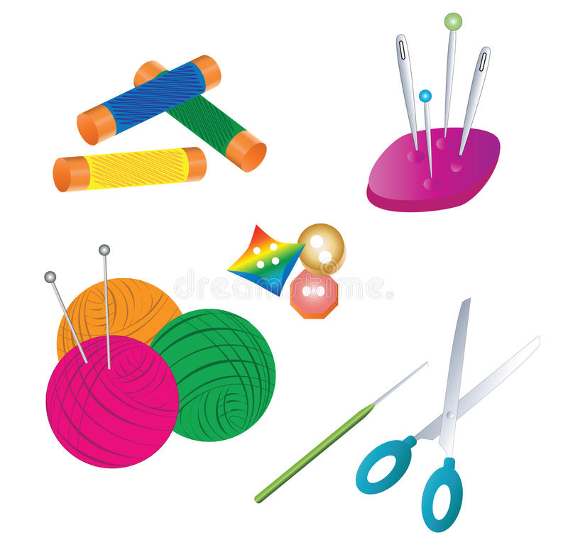 needlework ilustração stock
