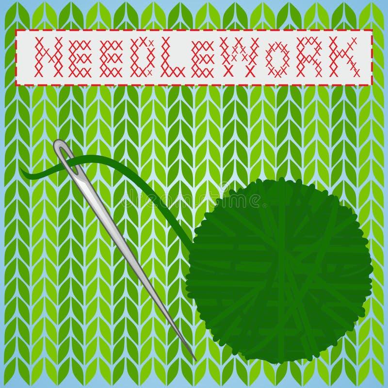 needlework ilustração royalty free