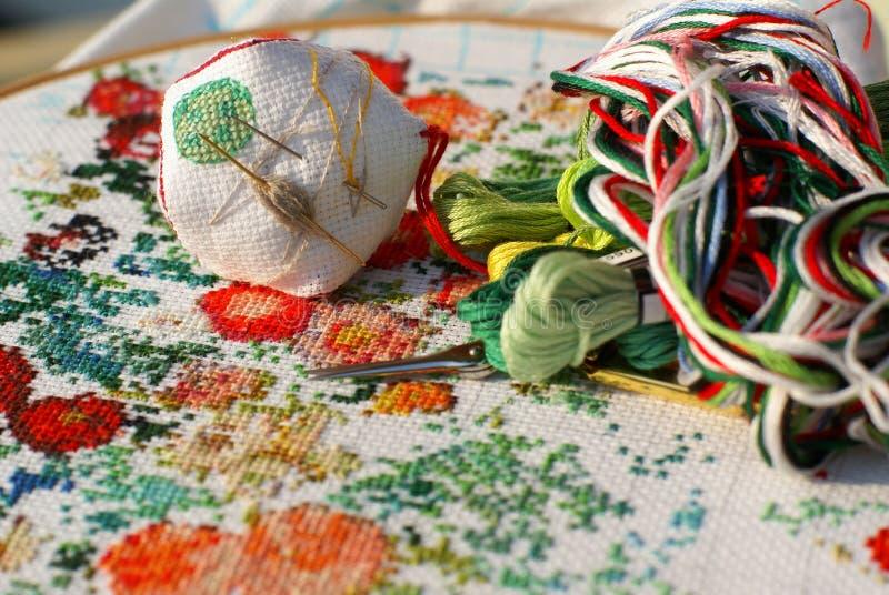 Needlework стоковые изображения