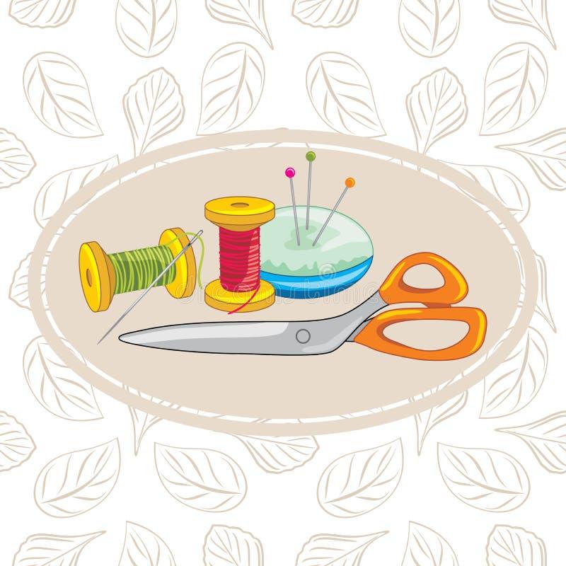 Needlework. Background for design stock image