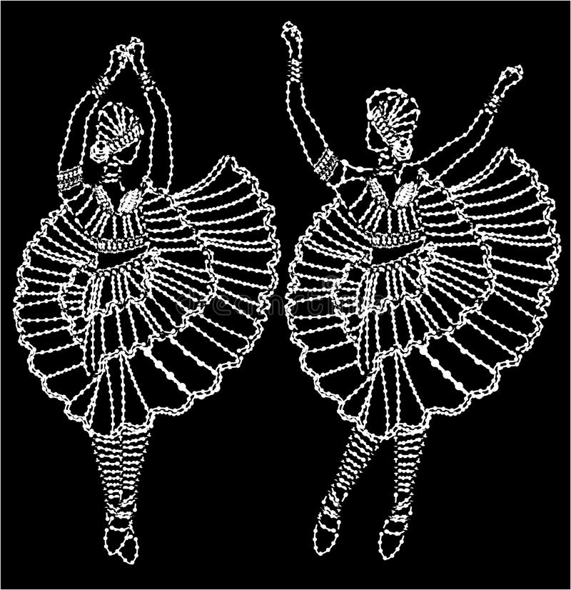 Needlework da dança ilustração stock
