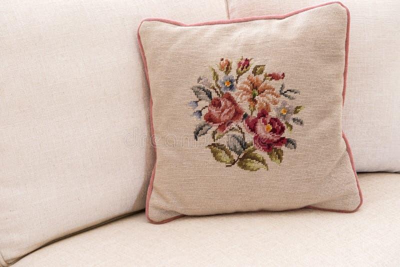 Needlework Pillow royalty free stock photos