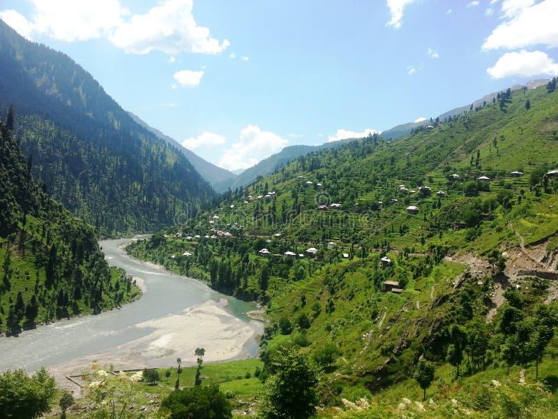 Neelam Valley Kashmir Pakistan fotografía de archivo