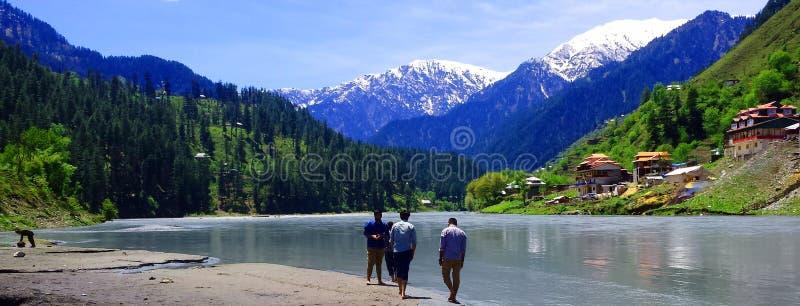 Neelum Dolinny Kaszmir Pakistan zdjęcia royalty free