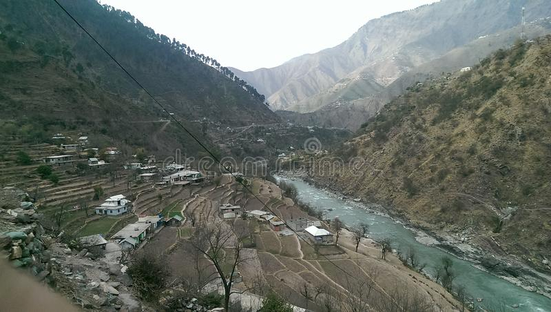 Neelum valley river neelum royalty free stock photo