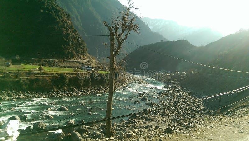 Neelum valley river neelum royalty free stock image