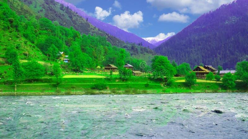 Neelumvallei Kashmir Pakistan royalty-vrije stock afbeelding