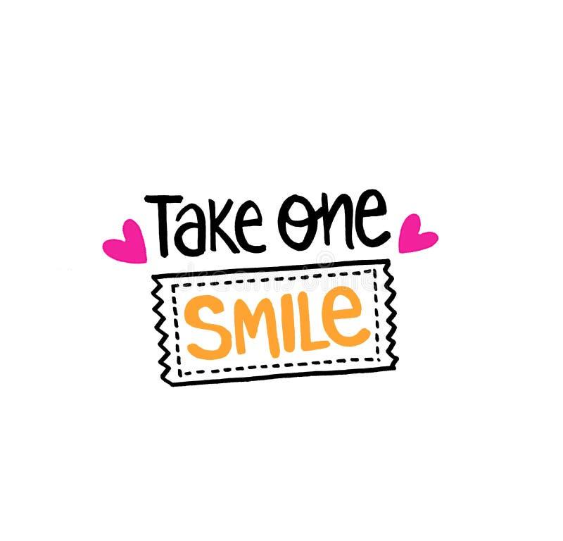 Neem één glimlachkaartje stock fotografie