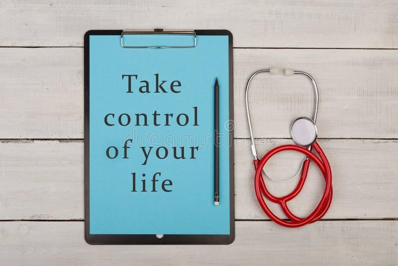 Neem Controle van Uw Leven! stock foto