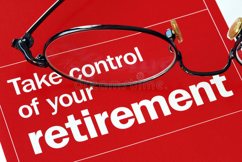 Neem controle van uw pensionering royalty-vrije stock afbeeldingen