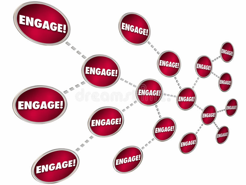 Neem de Interactiemededeling in dienst van Kettingsverbindingen stock illustratie
