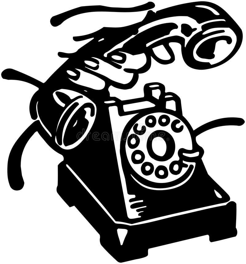 Neem de telefoon op stock illustratie