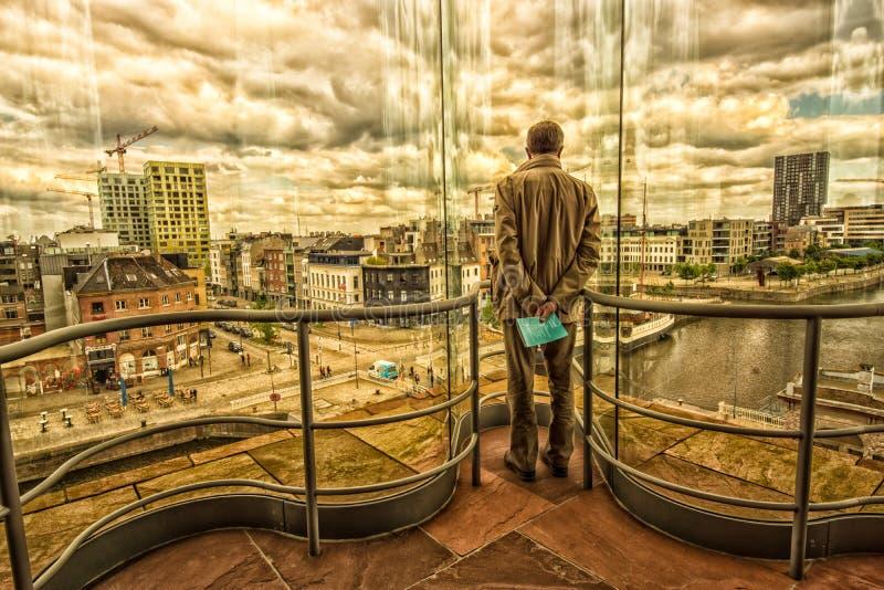 Neem een blik op Antwerpen Antwerpen stock foto