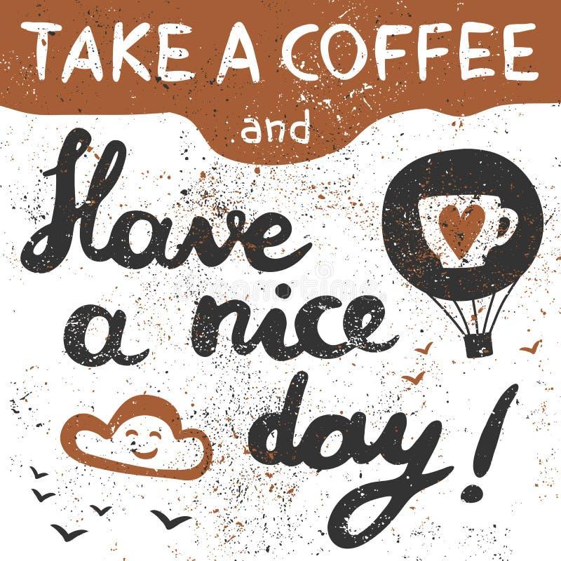Neem een koffie royalty-vrije illustratie
