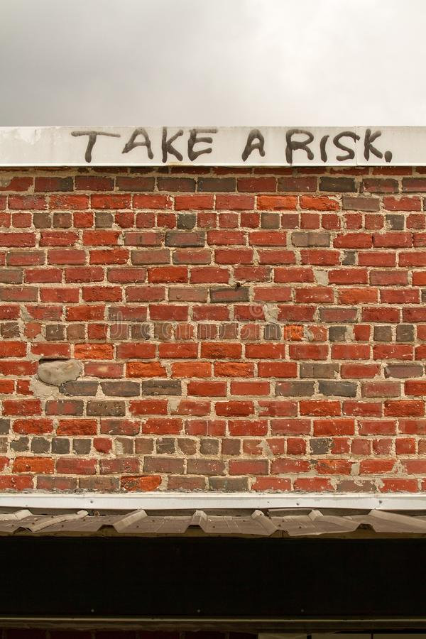 Neem een risico royalty-vrije stock fotografie