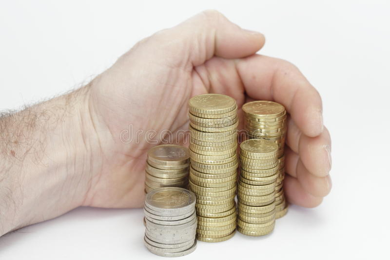 Neem geld royalty-vrije stock fotografie