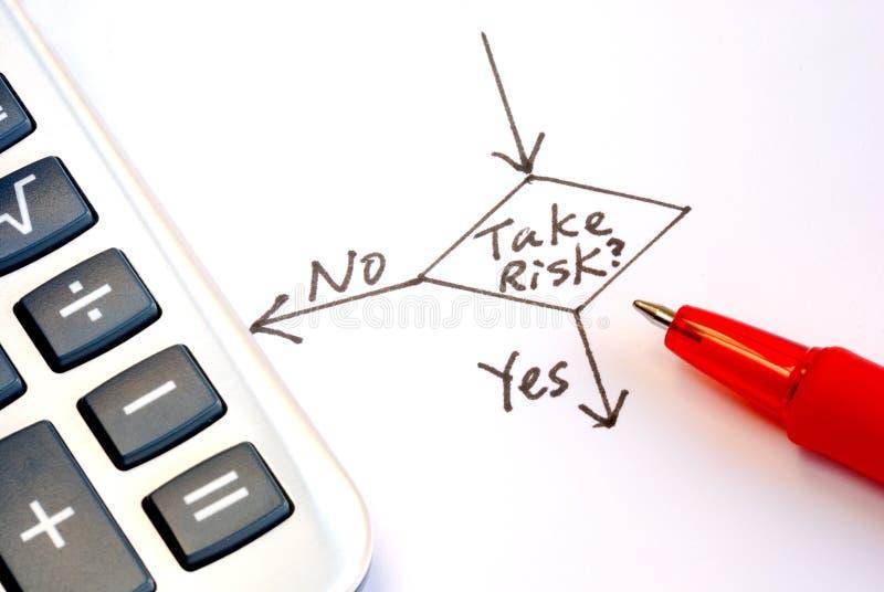 Neem of niet het risico royalty-vrije stock afbeelding