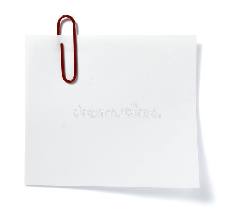 Neem nota document van de zaken van het herinneringsbureau royalty-vrije stock foto