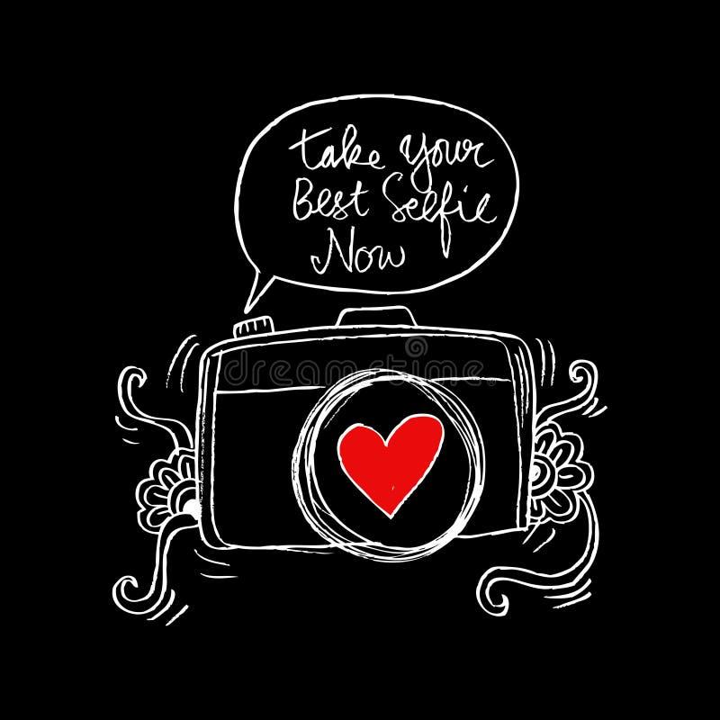 Neem nu uw beste selfie vector illustratie