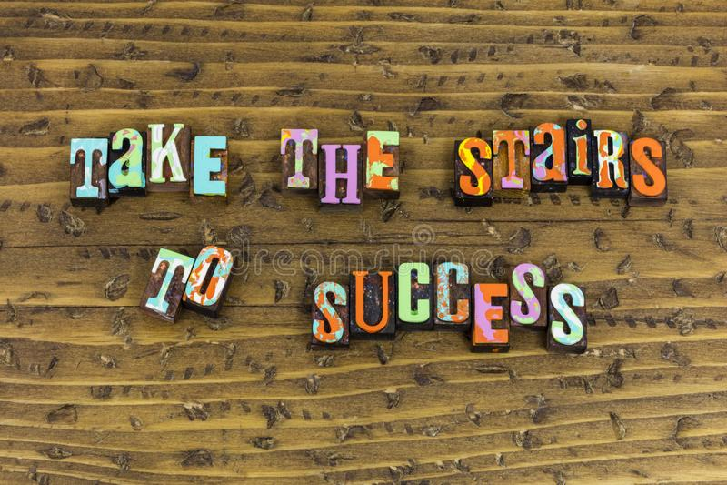 Neem treden aan succescarrière planning stock afbeelding