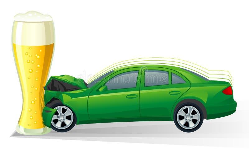 Neerstorting van auto stock illustratie
