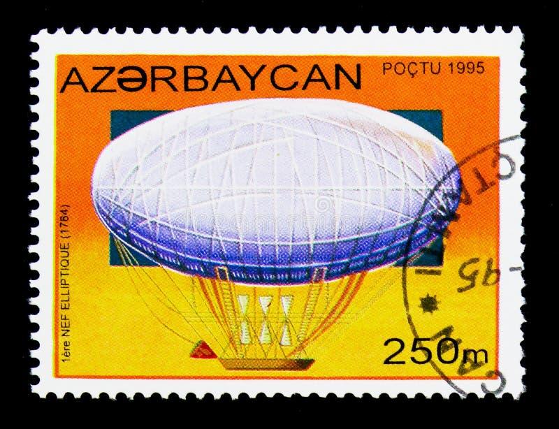 Nef elliptique zeppelin, Geschiedenis van Luchtschepen serie, circa 1995 royalty-vrije stock foto's