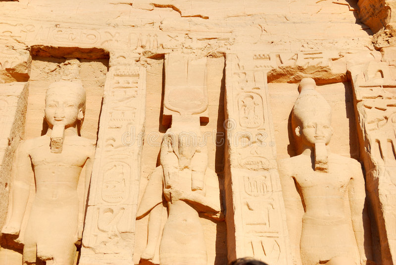 Nefertari and Ramses II royalty free stock photography