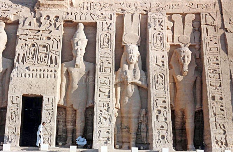 Nefertari tempel royaltyfri bild