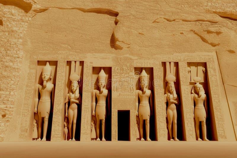 Nefertiti寺庙  库存例证