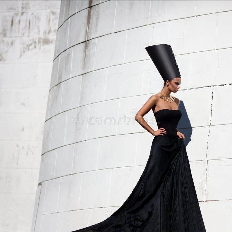 Nefertiti. Стилизованная мода стоковая фотография